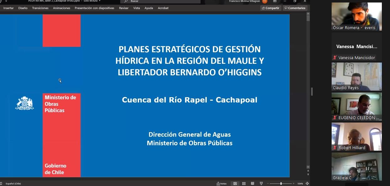 Usuarios de aguas se hacen parte de plan estratégico para cuenca Rapel